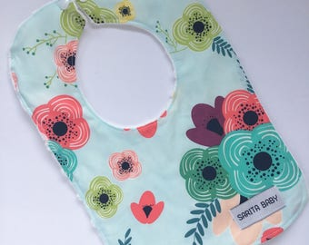 Baby Gift -  Gift for Baby - Baby Girl Bib - Bloom Bib - Sarita Baby - Floral Bib - Stylish Bib - Made in Canada