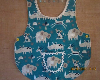 safari friends baby/toddler bib