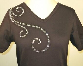 Spiral Rhinestone Shirt
