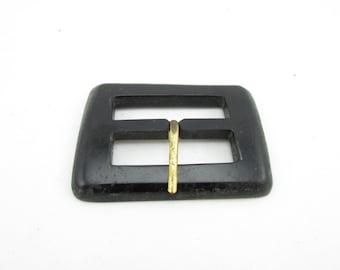 Vintage plastic belt buckle 80's