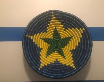 Superstar blue and yellow Peace basket