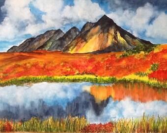 Yukon Autumn Brillance - Original Watercolor