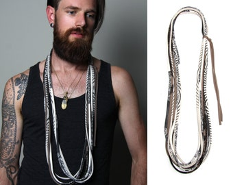 Mens Necklace, Gift for Men, Mens Gift, Mens Jewelry, Necklace Men, Burning Man, Gift for Boyfriend, Boyfriend Gift, Infinity Scarf