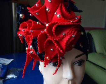 S.Concept Turban Head Wrap/ Unique Turban/ Beaded Head Wrap