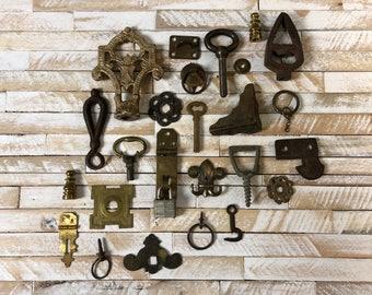 Lot of 26 Vintage Metal Assemblage Salvage Destash