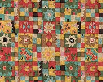 Alexander Henry -CUADROS DE AZUL 8616B -Tea Dye