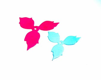 Cut scrapbooking flowers set of 2 cut