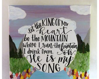 King of My Heart Canvas