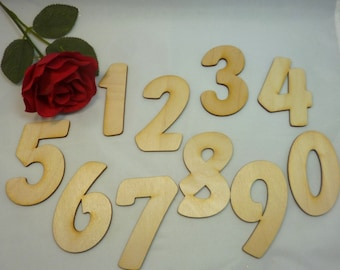 large wooden numbers 80 mm to the figures create new DIY outdoor decoration wood 3 piece scrapbooking design crafts decorating DIY self