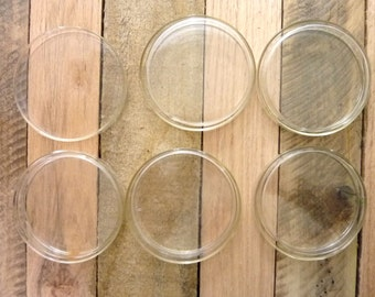 VINTAGE PYREX Set OF 5 Glass Petri Dishes Chemistry Set Glassware Cell Culture