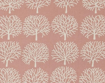 Fabric by the Yard --  Ghastlie Forest in Misty Rose
