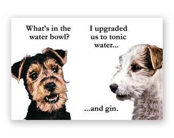 Gin & Tonic Dogs - Magnet - Humor - Gift - Stocking Stuffer -  Alcohol
