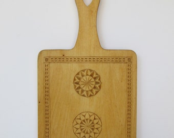 Lovely Hand Carved Wood Cutting Board