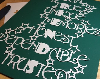 Friends papercut, papercutting diy template personal use only