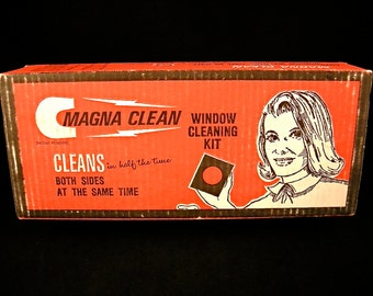 1960's Window Cleaning Kit ~ Magna Clean