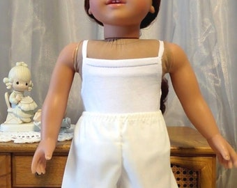 "Signature Collection - 6"" White Below Knee Length Pantaloons - 18 Inch Doll Clothes - Fits American Girl Doll - 2503"