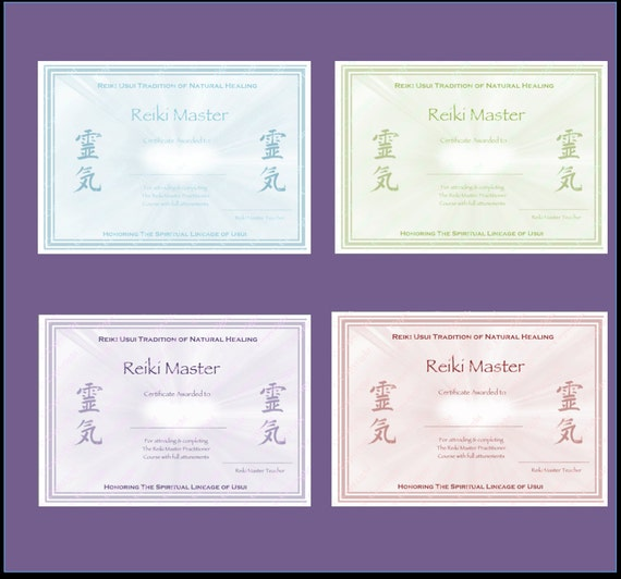 Download complete set reiki certificate templates x4 download complete set reiki certificate templates x4 landscape level 1 level 2 master practitioner master teacher reiki hearts yadclub