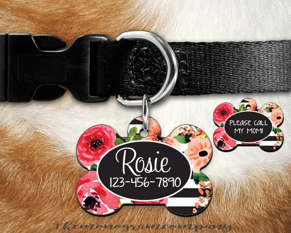 Double Sided Dog Tag Pet Id Tag Personalized Pet Bone Id