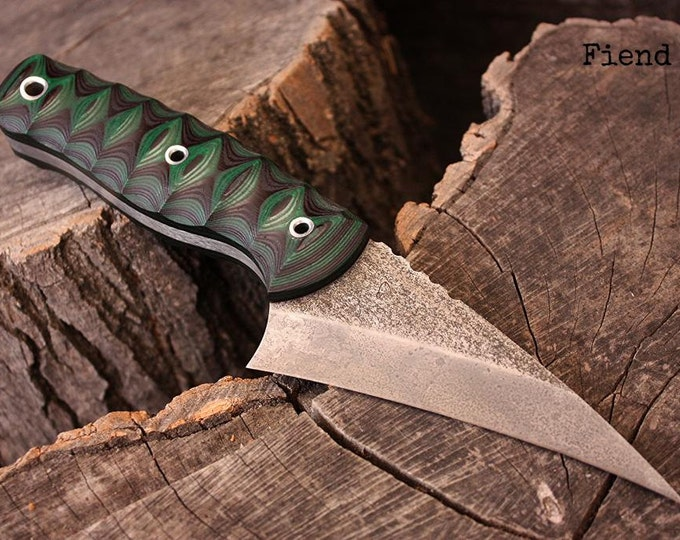 "Handcrafted FOF ""Fiend"", survival, hunting or tactical knife"