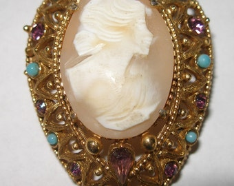 FLORENZA Carved Shell Cameo(293)