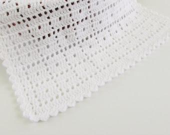 Crochet Pattern Cross My Heart Baby Blanket Striped Baby