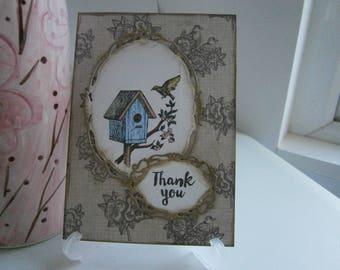 Handmade A6 Thank You Card