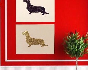 Dachshund  Silhouette Canvas Art