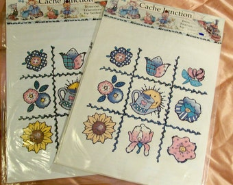 Velour Iron-On Transfers - Sunshine Tic Tac Toe From Cache Junction - 2 Packages