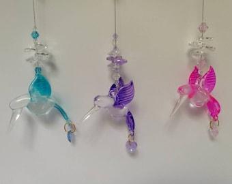 Glass hummingbird Sun catchers