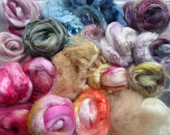 Hope Jacare - Hand dyed speciality fibre pack -  approx 90g mixed plant/speciality fibres - PLF70