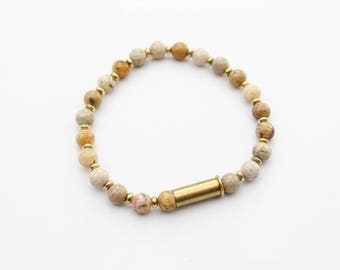 Mixed Jasper Bullet Bracelet