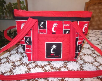 University of Cincinnati Bearcats Handmade Purse