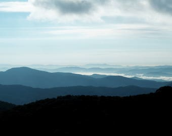 Instant Download, Blue Ridge Mountains, North Carolina Photography