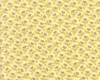 Hazel and Plum - Plum Blossoms in Cream: sku 20291-17 cotton quilting fabric by Fig Tree and Co. for Moda Fabrics