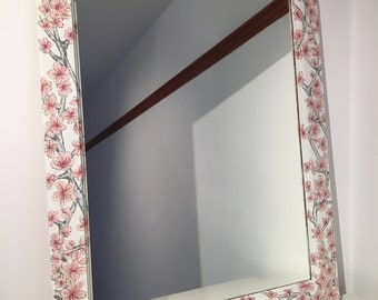 The Sakura Mirror - hand painted cherry blossom mirror by CLD
