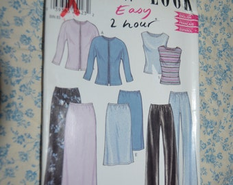 New Look 6150 Misses Jacket Top Skirt and Pants Sewing Pattern - UNCUT - Size 8 - 18