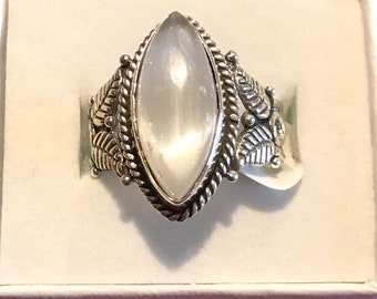 Selenite Ring, Size 9