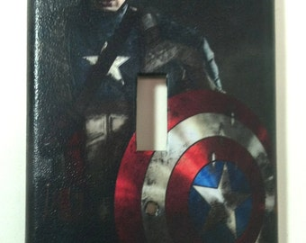 Captain America Single Light Switch Plate Cover