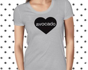 Avocado Shirt for Women - Funny Avocado Shirt - Avocado Love T Shirt - Vegetarian Tshirt for Women - Plant-based T-shirt
