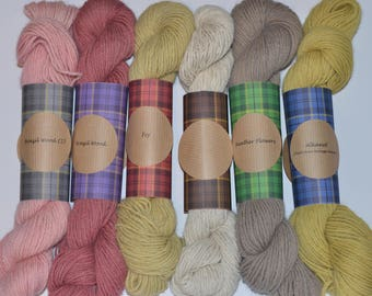 Hand dyed British Alpaca Yarn