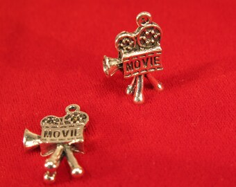 "BULK! 15pc ""movie"" charms in antique silver style (BC992B)"