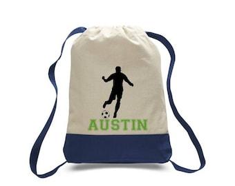 Soccer Gift, Soccer Bag, Soccer Drawstring Bag, Team Gift, Sports Bag, Personalized Bag, Custom Bag, Drawstring Bag