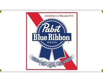 Pabst Blue Ribbon Beer Garage Banner Man Cave Banner Hot Rod Rat Rod NHRA