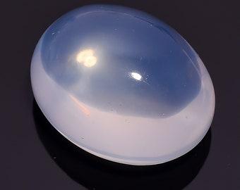 99.15 Ct. Natural Blue Milky Opal Quartz Oval Cabochon Loose Gemstone 32X26X17 HB-641