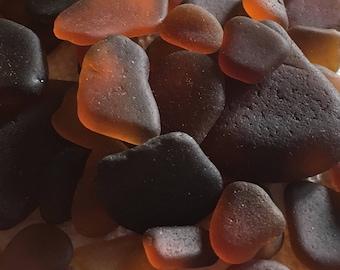 1/4 lb of Brown Sea Glass