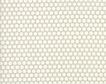 One Week Sale 8.99 A Yard - Bonnie and Camille Fabric - Bonnie Camille Grey 55023 36 Moda Basics  - Bliss Dot Grey