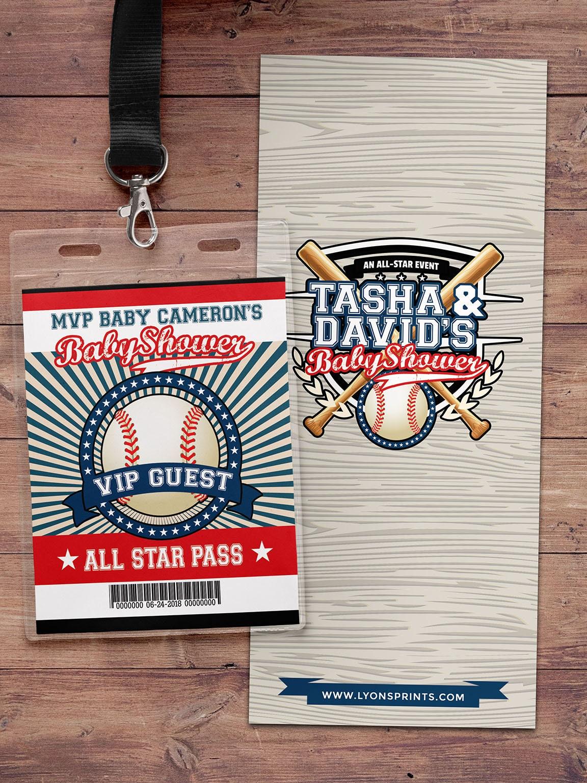 Baseball baby shower Invitation, All Star Little Slugger Baby Shower ...