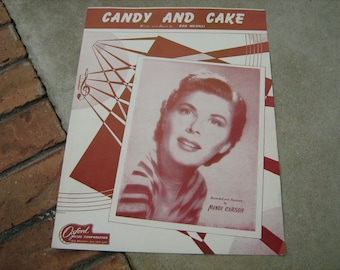 1950  vintage sheet music ( Candy and Cake  )