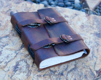 """Leather Journal - Explorers Journal - Brown - Diary - Notebook - Sketchbook - 5""""x6"""""""