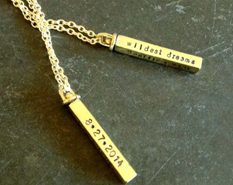 Hand Stamped 4-Sided Swivel Necklace
